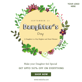 Online Editable Daughter's Day Offers Instagram Ad
