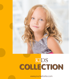 Online Editable Kids Fashion Instagram Ad