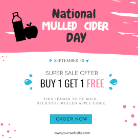 National Mulled Cider Day - Social Media Post