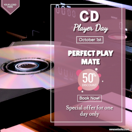 CD Player Day - Social Media Post