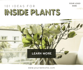 Online Editable House Plants Facebook Post