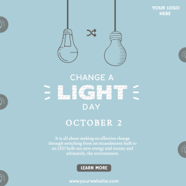 Online Editable Change A Light Day October 2 Illustrated Instagram Ad