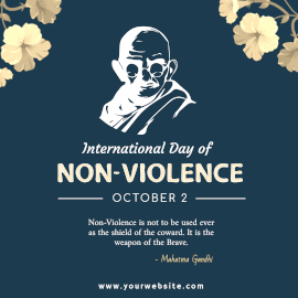 International Day of Non-Violence - Instagram Post