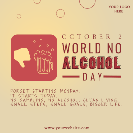 World No Alcohol Day - Instagram Post