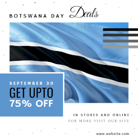Online Editable Botswana Day Deals Instagram Ad