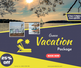 Online Editable Best Holiday Packages Facebook Post