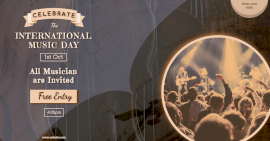 Online Editable International Music Day Invitation Facebook Ad Post
