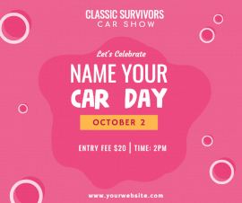 Online Editable Name your Car Day October 2 Facebook Post