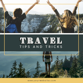 Online Editable Tips And Tricks On Travel Instagram Ad